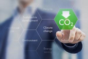 Réduire les émissions de gaz à effet de serre pour le changement climatique et le développement durable Banque d'images - 70655076